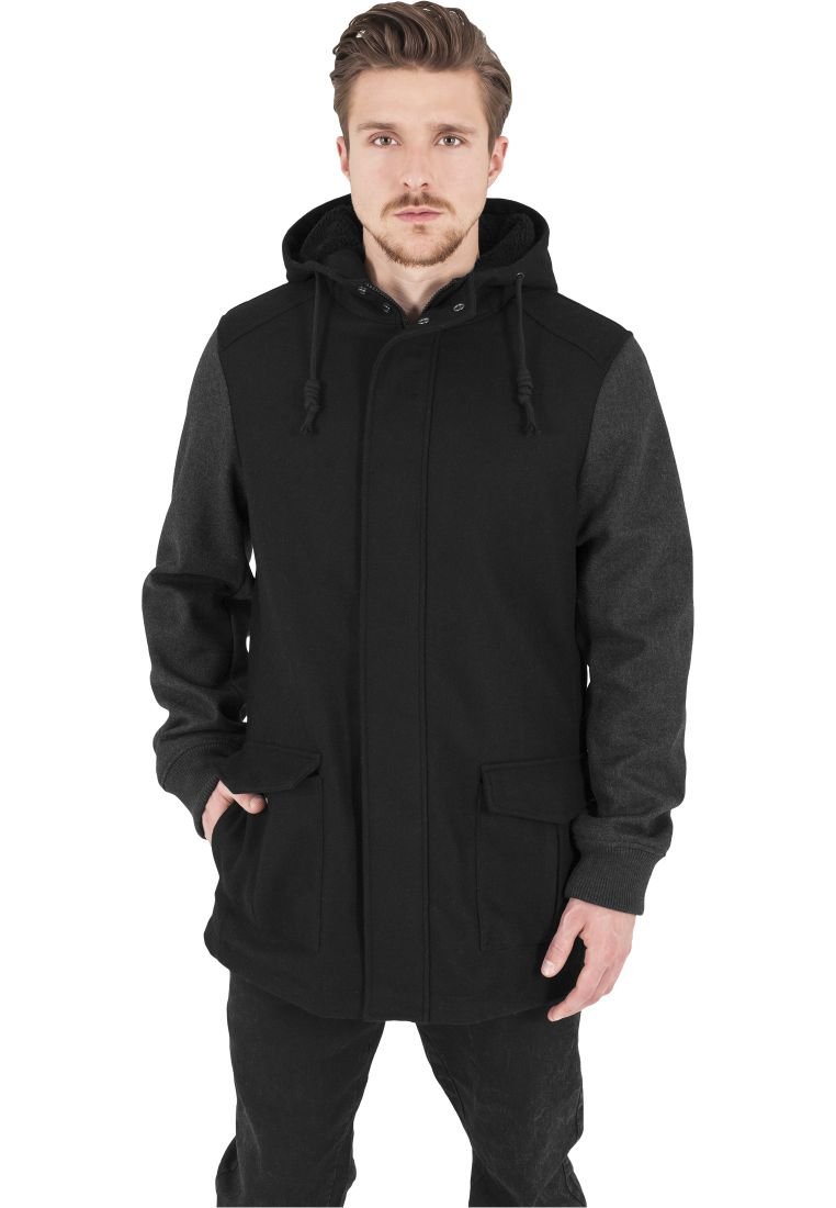 Contrast Hooded Wool Jacket - TALVITAKIT - TTUTB1161 - 1