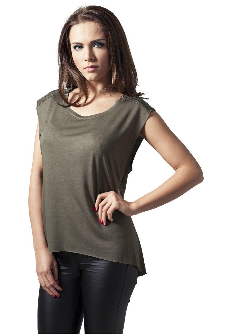 Ladies Shoulder Zip HiLo Tee - T-PAIDAT - TTUTB1192 - 1