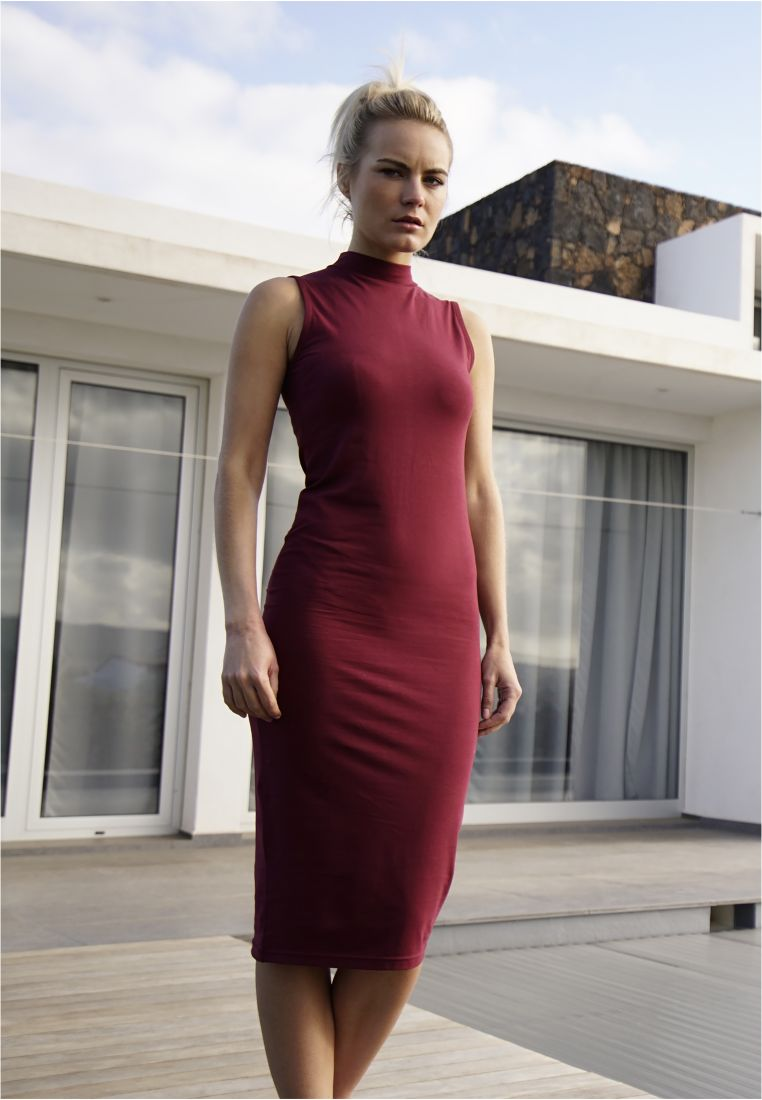 Ladies Stretch Jersey Turtleneck Dress - HAMEET, SHORTSIT, MEKOT - TTUTB1195 - 1
