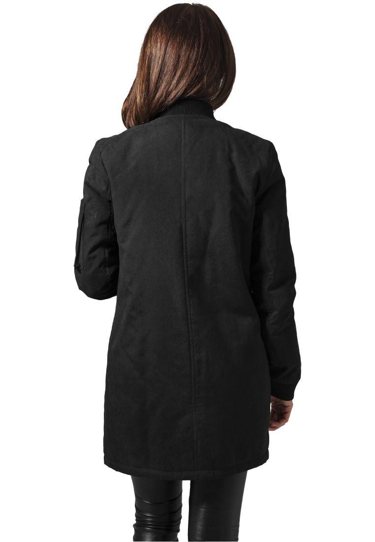 Ladies Peached Long Bomber Jacket - TAKIT - TTUTB1218 - 3