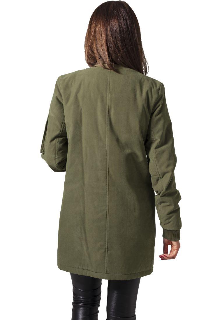 Ladies Peached Long Bomber Jacket - TAKIT - TTUTB1218 - 11