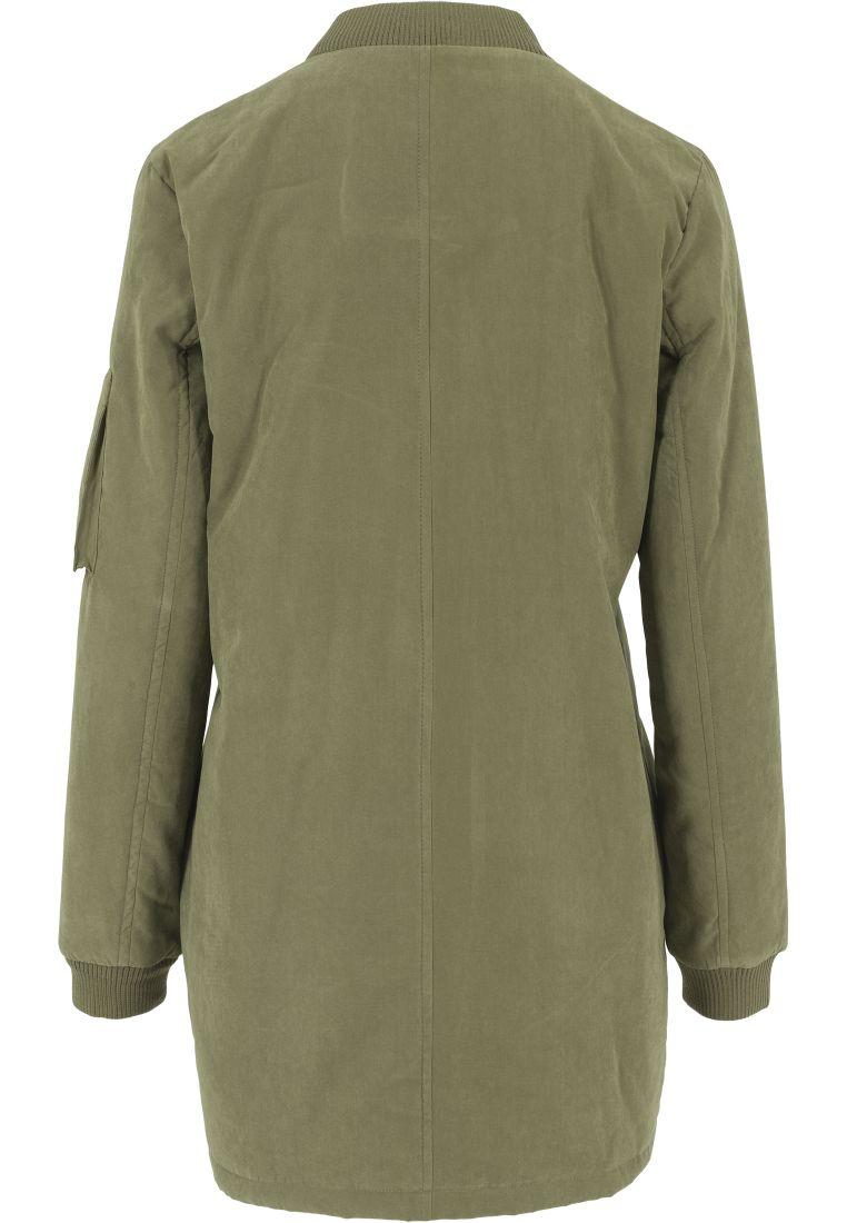 Ladies Peached Long Bomber Jacket - TAKIT - TTUTB1218 - 15