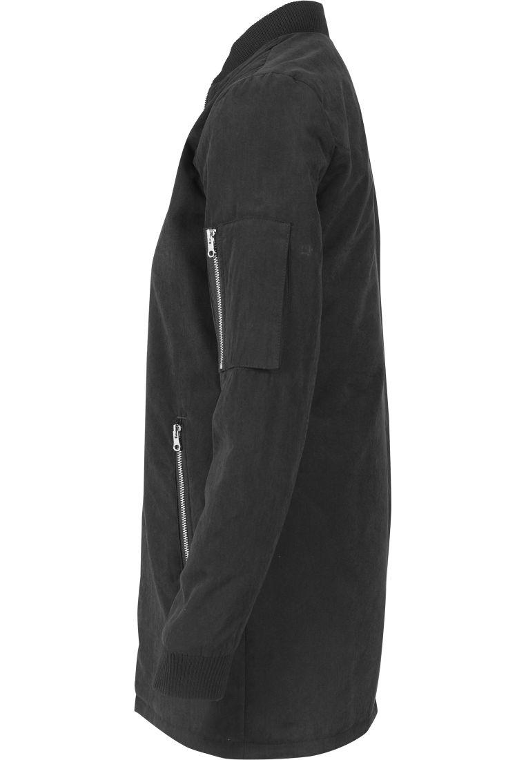 Ladies Peached Long Bomber Jacket - TAKIT - TTUTB1218 - 6