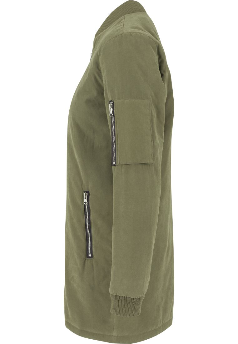 Ladies Peached Long Bomber Jacket - TAKIT - TTUTB1218 - 14