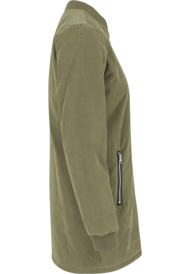 Ladies Peached Long Bomber Jacket - TAKIT - TTUTB1218 - 16
