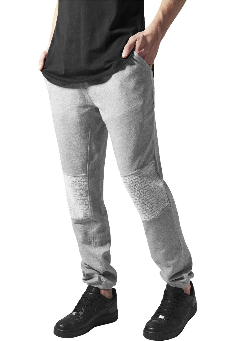 Deep Crotch Terry Biker Sweatpants - COLLEGE HOUSUT - TTUTB1247 - 1