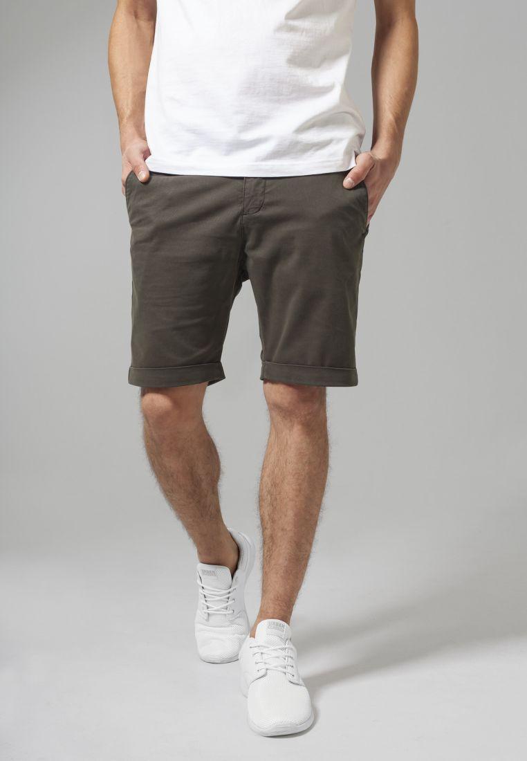 Stretch Turnup Chino Shorts - SHORTSIT - TTUTB1264 - 1
