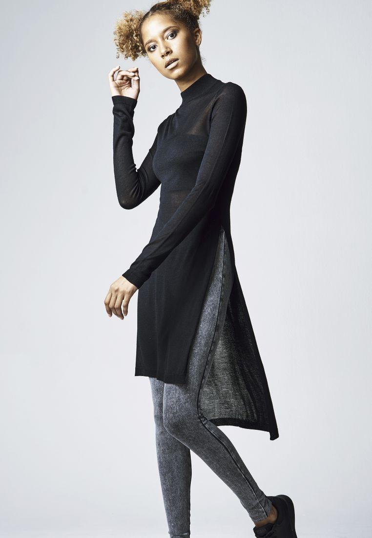 Ladies Fine Knit Turtleneck Long Shirt - T-PAIDAT - TTUTB1342 - 1