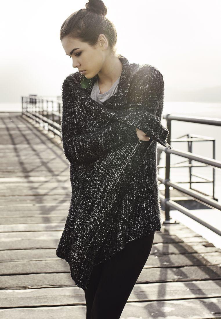 Ladies Knit Feather Cardigan - NEULEET - TTUTB1350 - 1
