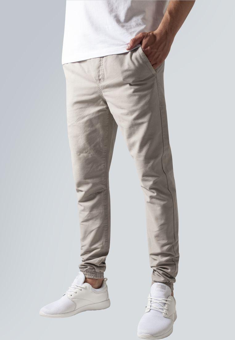 Washed Canvas Jogging Pants - HOUSUT - TTUTB1434 - 1