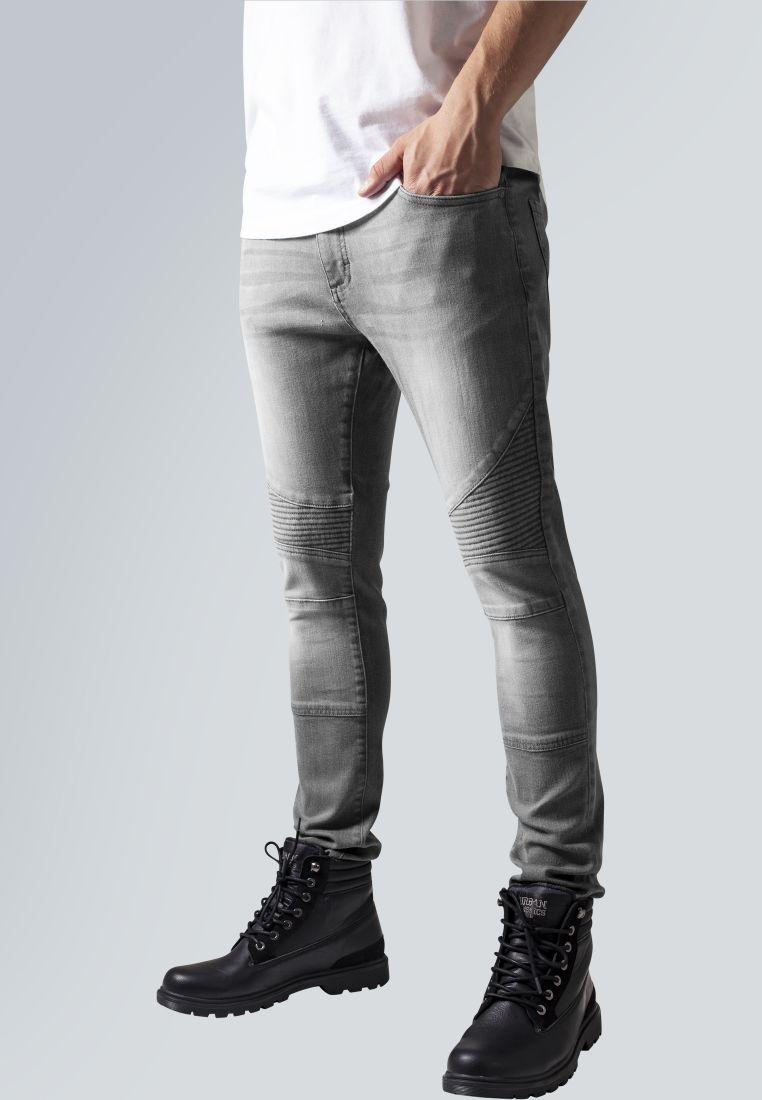 Slim Fit Biker Jeans - HOUSUT - TTUTB1436 - 1