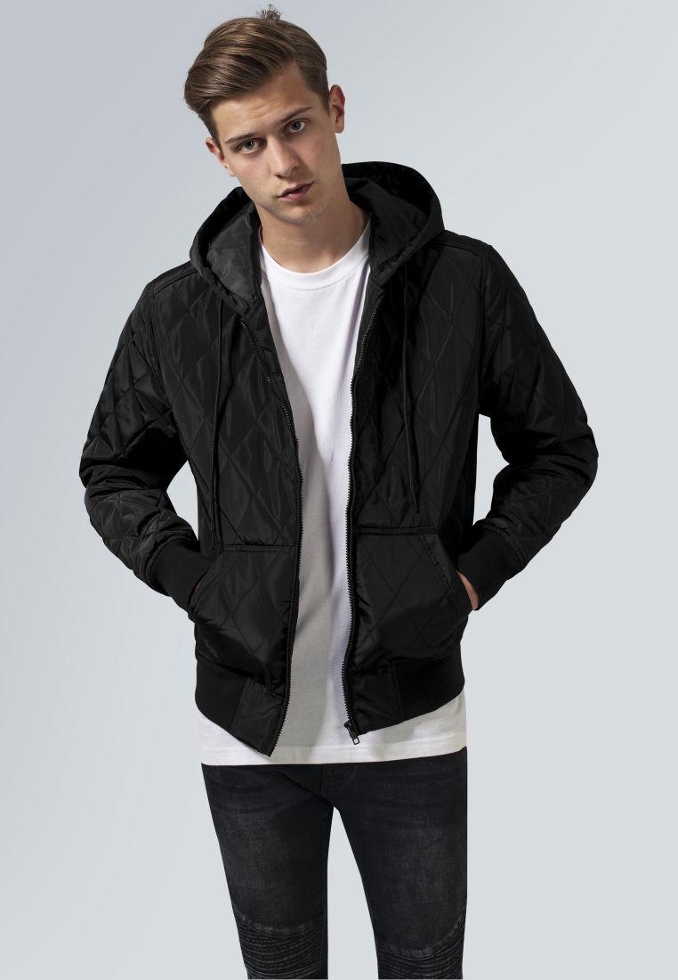 Hooded Big Diamond Quilt Jacket