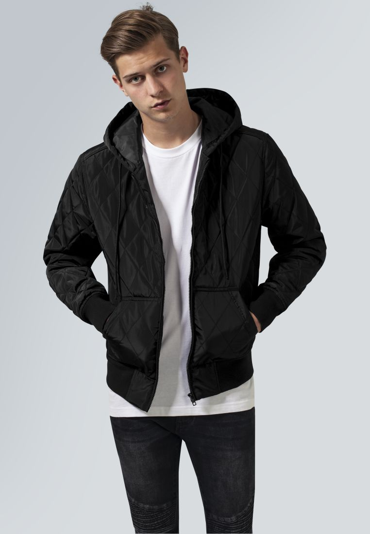 Hooded Big Diamond Quilt Jacket - TAKIT - TTUTB1466 - 1