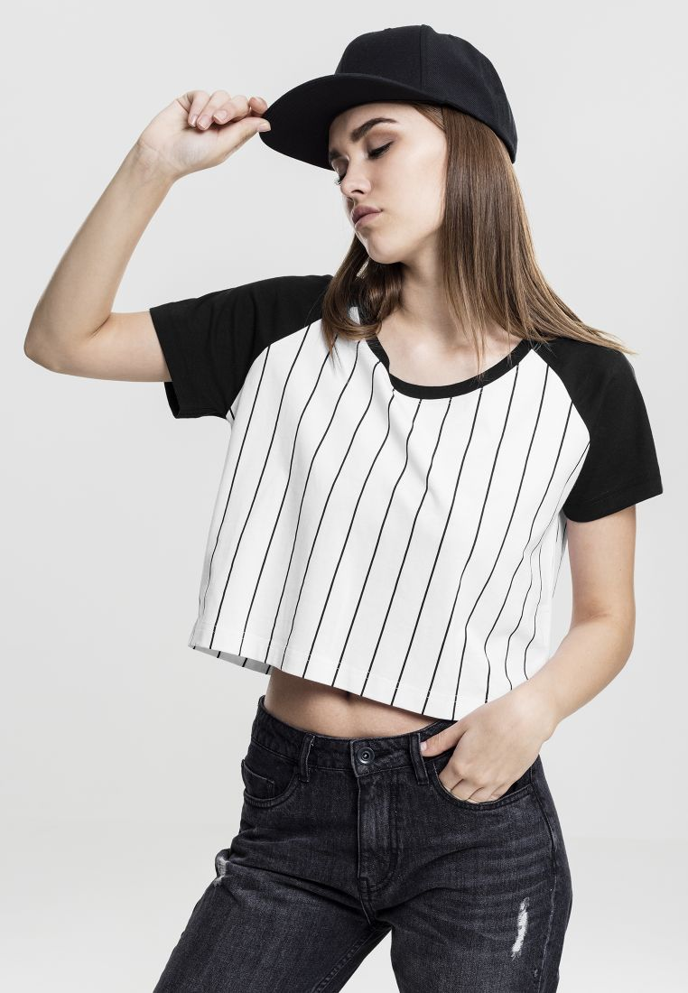 Ladies Cropped Baseball Tee - T-PAIDAT - TTUTB1507 - 1