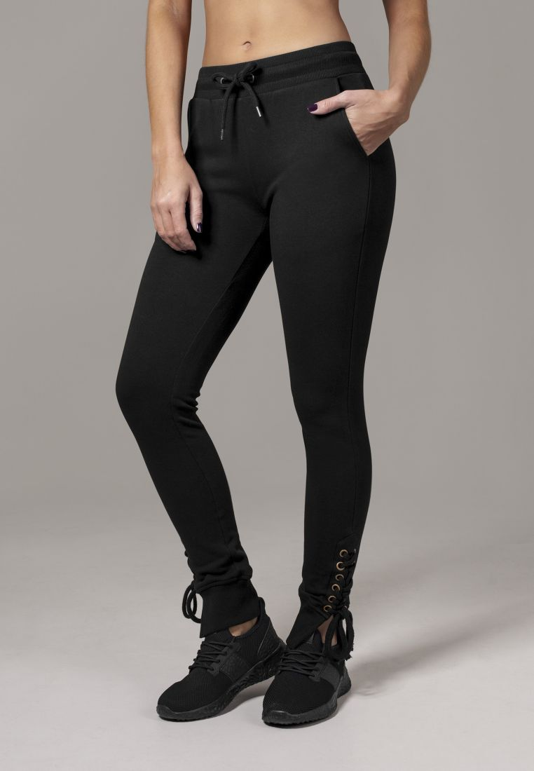 Ladies Fitted Lace Up Pants