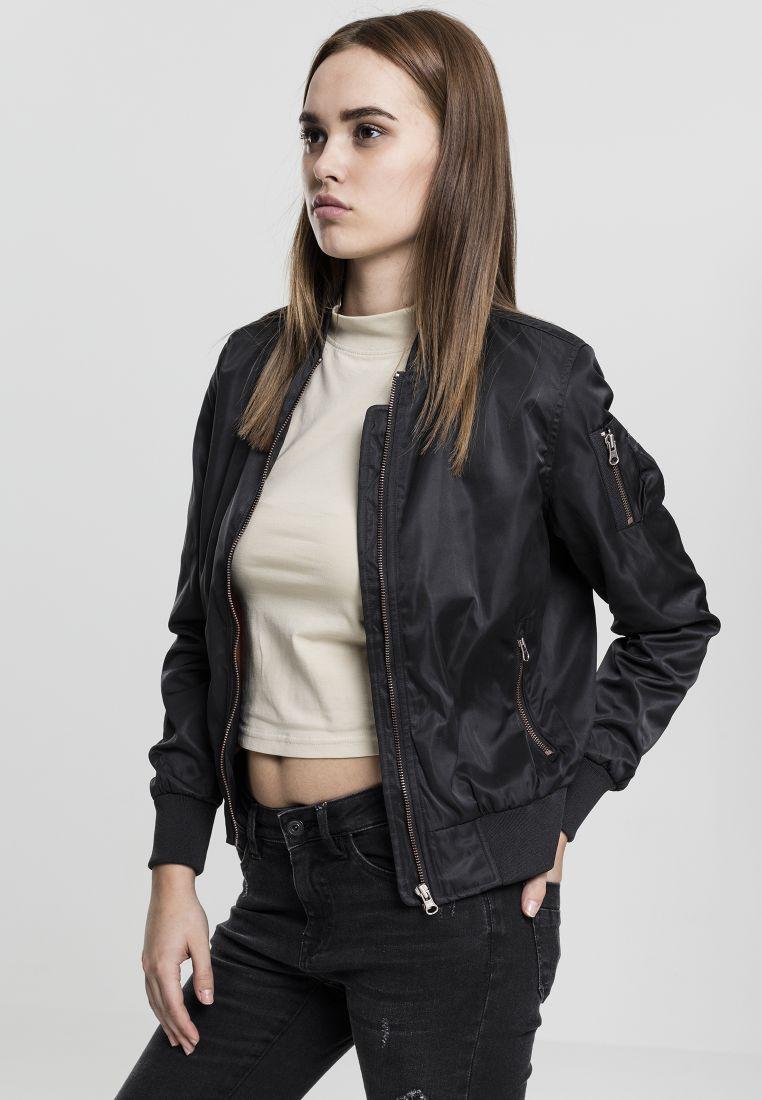 Ladies Nylon Twill Bomber Jacket