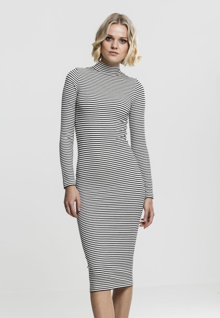 Ladies Striped Turtleneck Dress - HAMEET, SHORTSIT, MEKOT - TTUTB1709 - 1