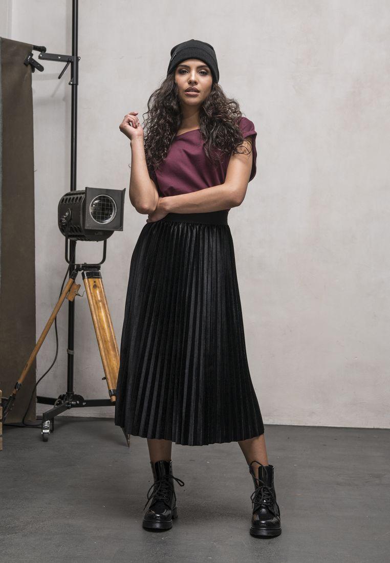 Ladies Velvet Plisse Skirt - HAMEET, SHORTSIT, MEKOT - TTUTB1733 - 1