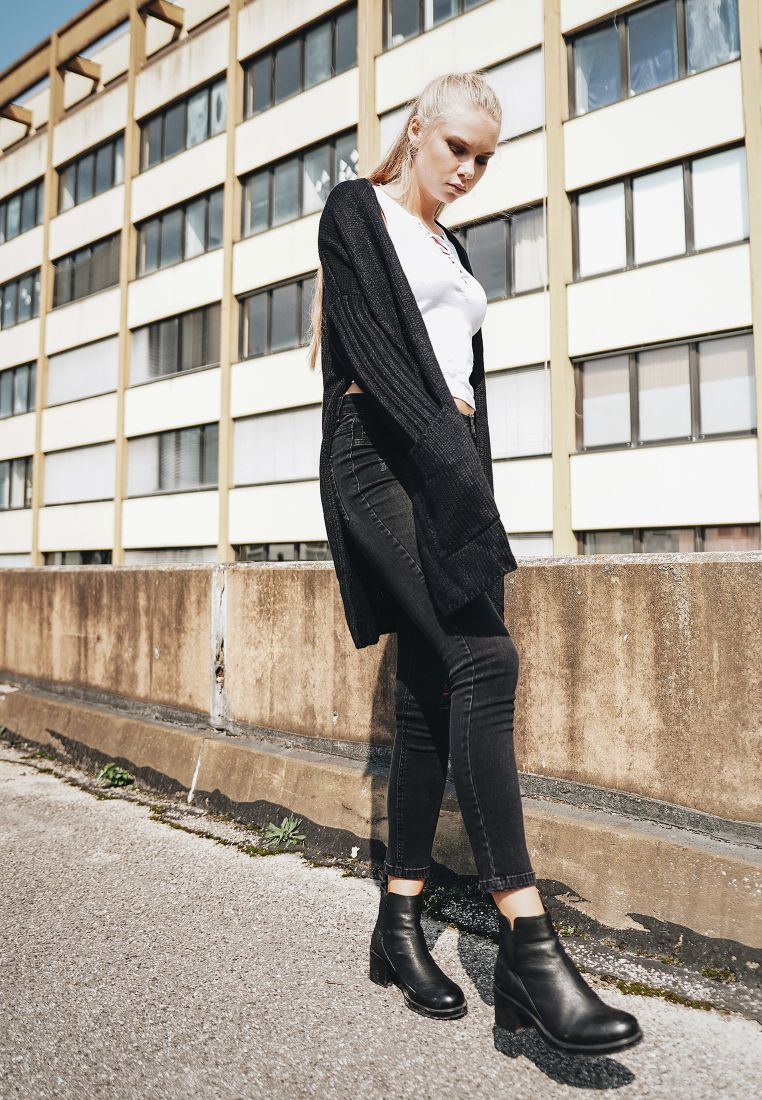 Ladies Oversized Cardigan - NEULEET - TTUTB1749 - 1