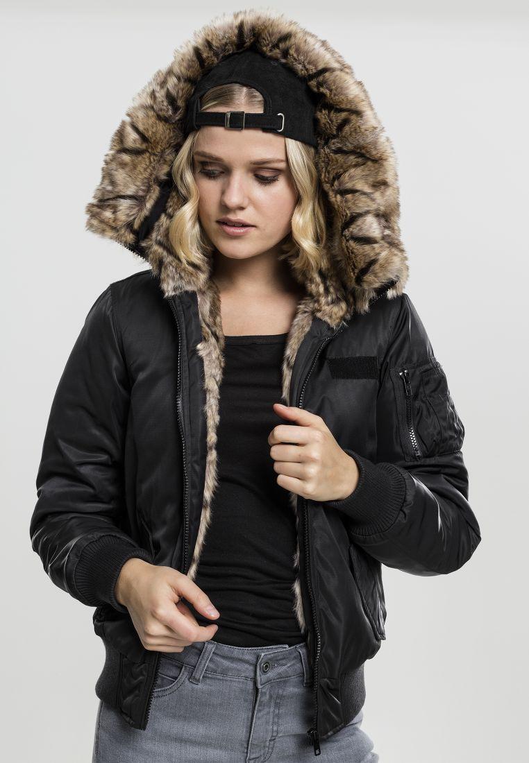 Ladies Imitation Fur Bomber Jacket - TAKIT - TTUTB1759 - 1