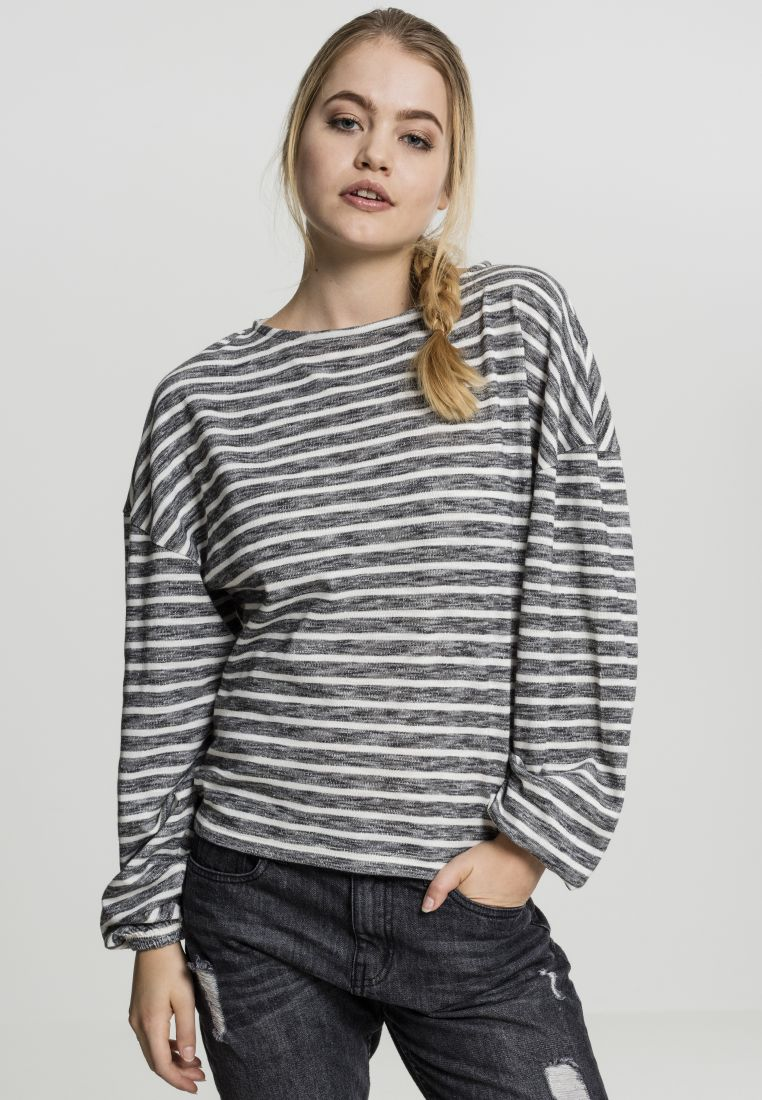 Ladies Oversize Stripe Pullover