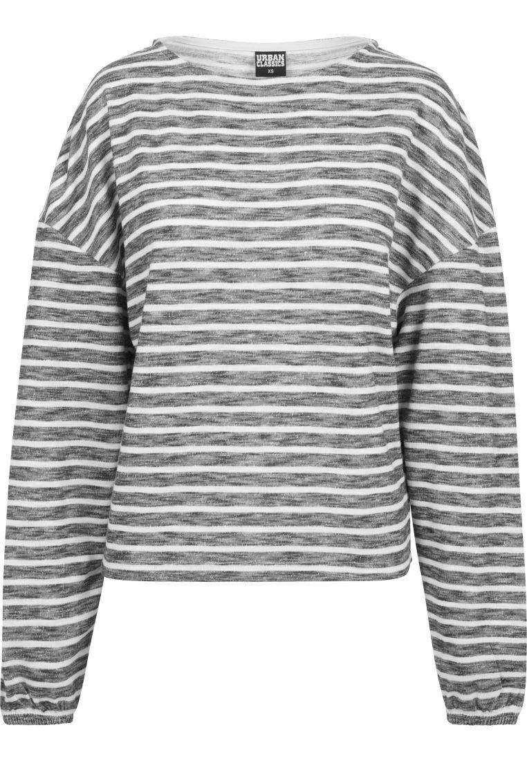 Ladies Oversize Stripe Pullover - COLLEGE PAIDAT - TTUTB1837 - 1