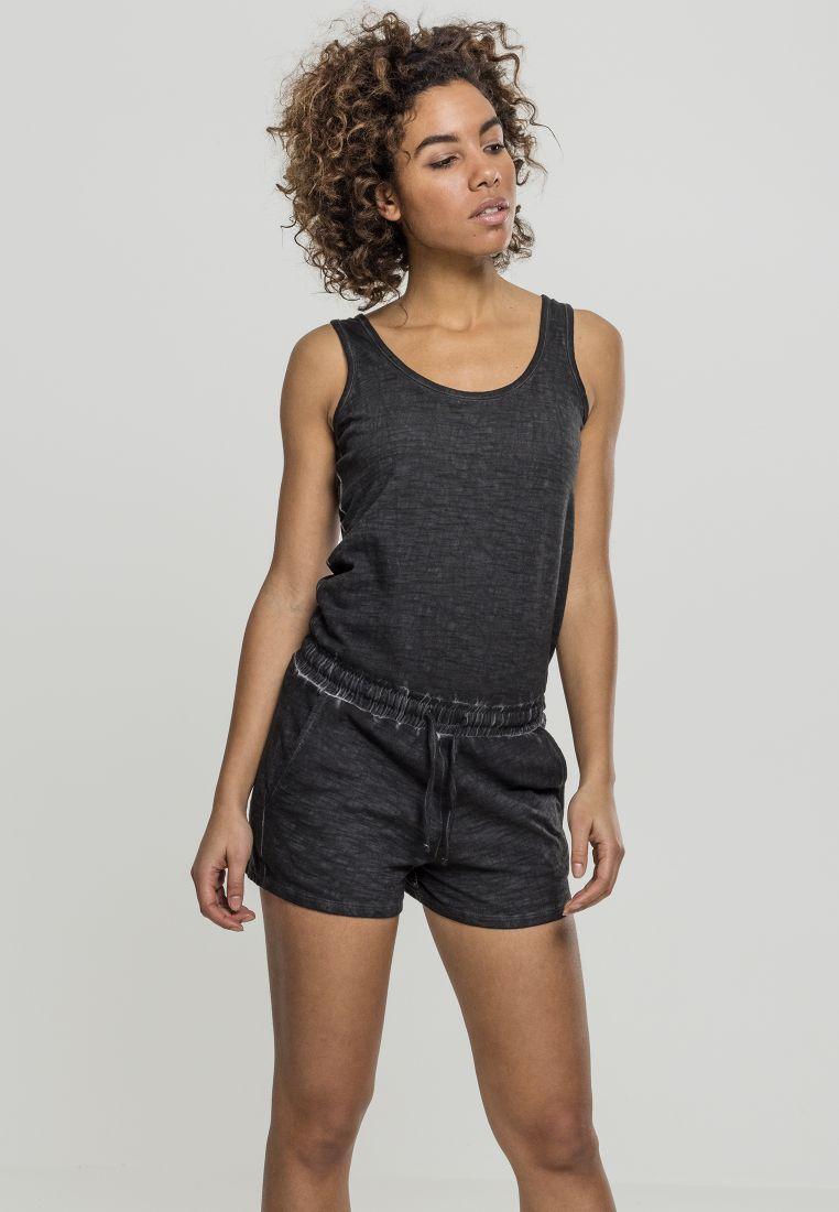 Ladies Cold Dye Short Jumpsuit