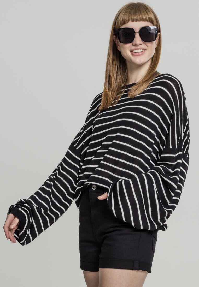 Ladies Oversize Stripe Sweater