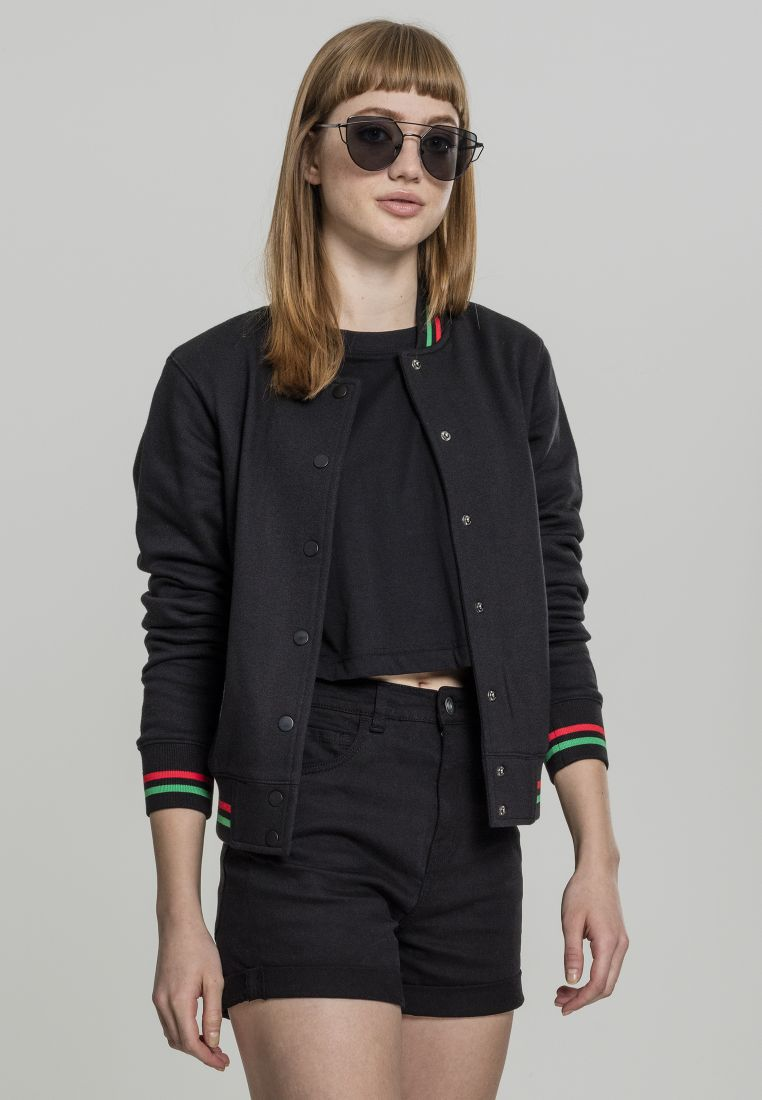 Ladies 3-Tone College Sweat Jacket