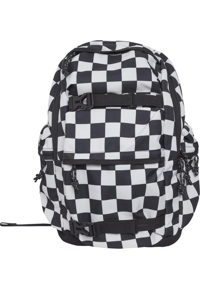 Backpack Checker black & white - LAUKUT, LOMPAKOT JA VYÖT - TTUTB2155 - 1
