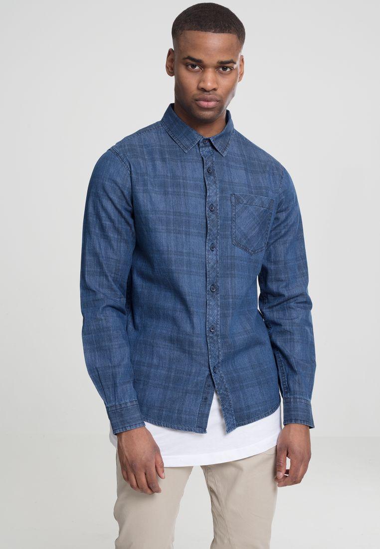 Printed Check Denim Shirt
