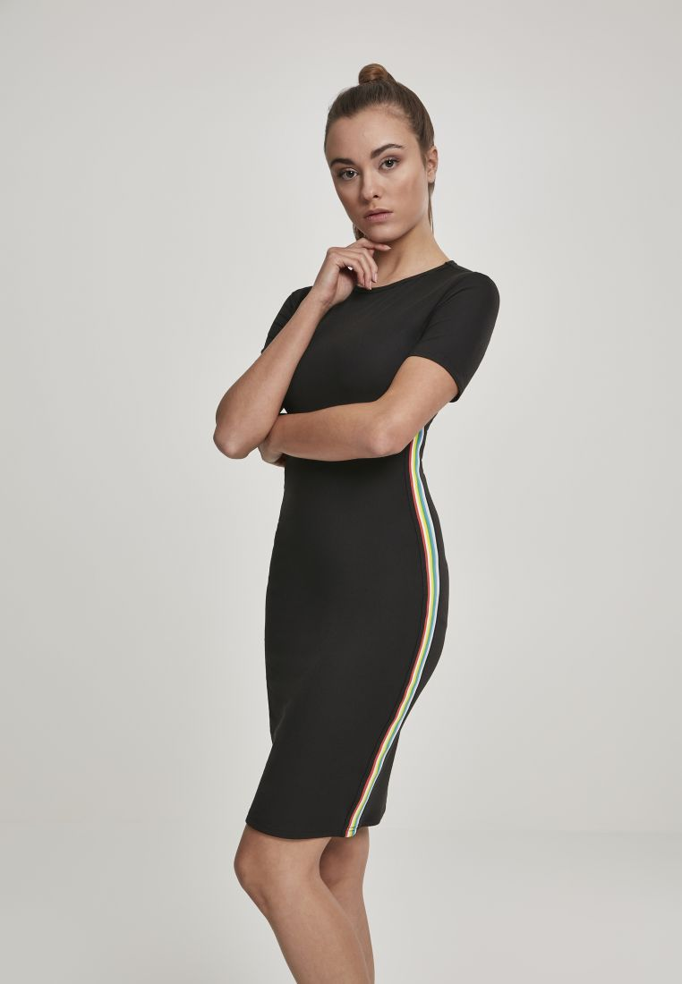 Ladies Multicolor Side Taped Dress