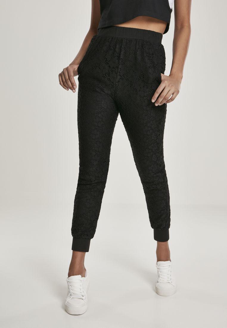 Ladies Lace Jersey Jog Pants