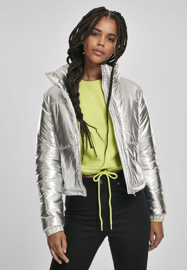 Ladies Metalic Puffer Jacket