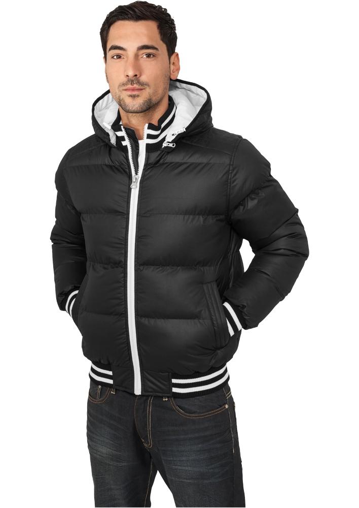 Shiny 2-tone Hooded College Bubble Jacket - TALVITAKIT - TTUTB431 - 1
