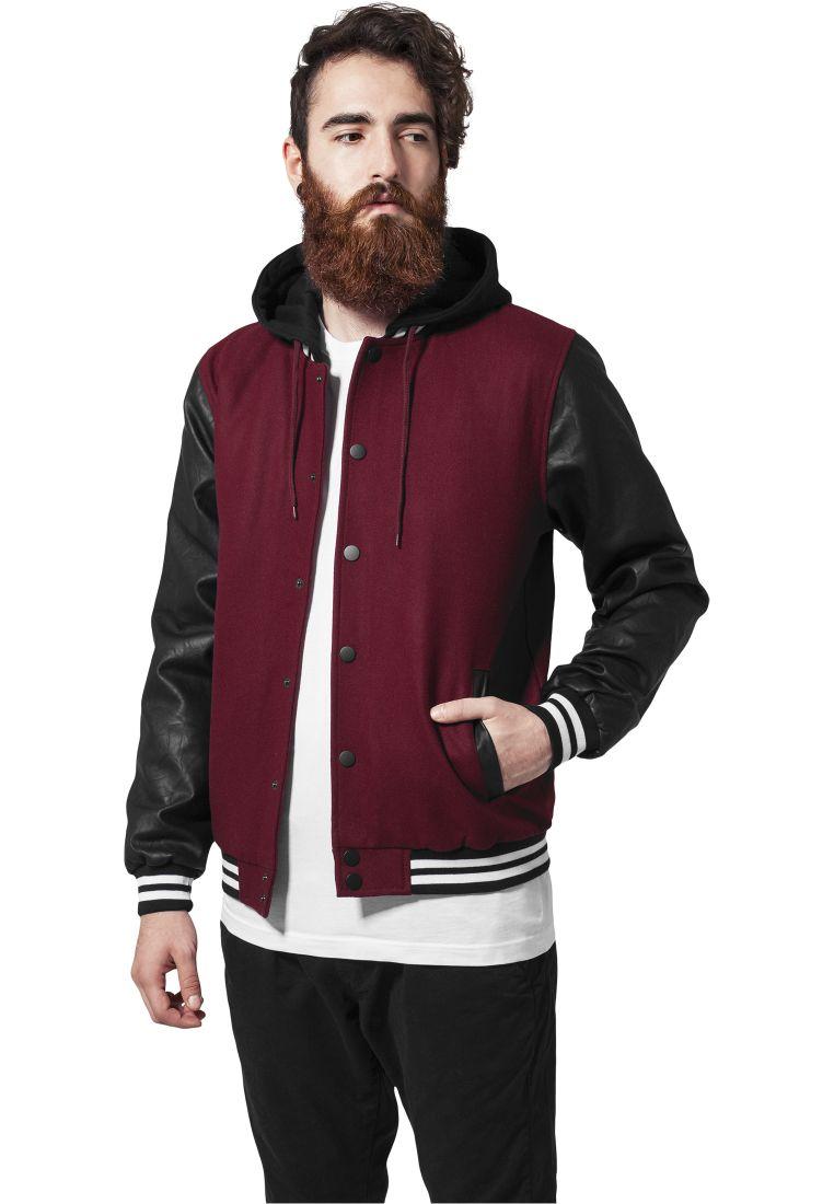 Hooded Oldschool College Jacket - COLLEGE TAKIT - TTUTB438 - 1
