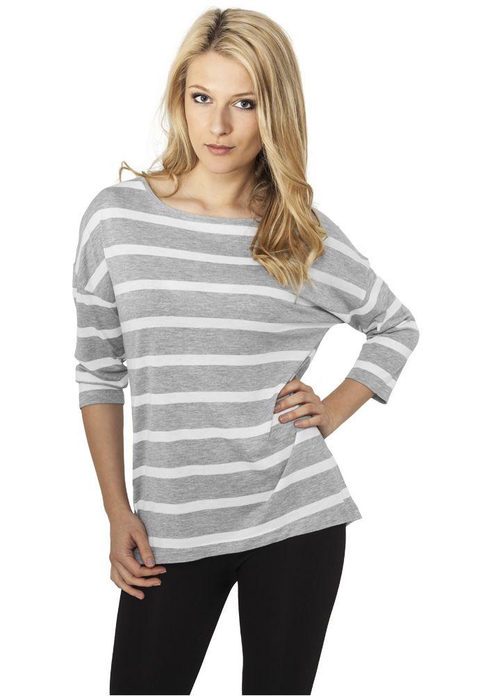 Ladies Loose Striped Tee - T-PAIDAT - TTUTB460 - 1