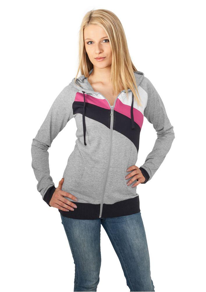 Ladies 3 Color Jersey Ziphoody