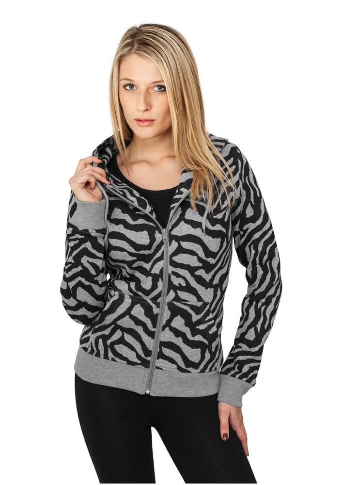 Ladies Zebra Ziphoody - HUPPARIT - TTUTB469 - 1