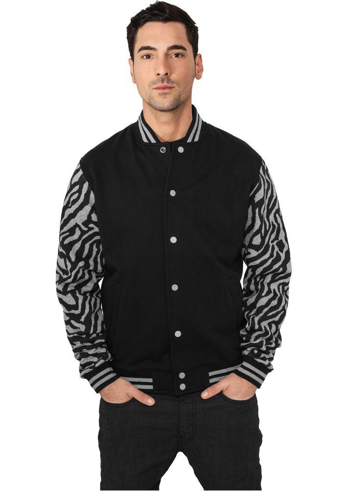 2-tone Zebra College Jacket - COLLEGE TAKIT - TTUTB505 - 1