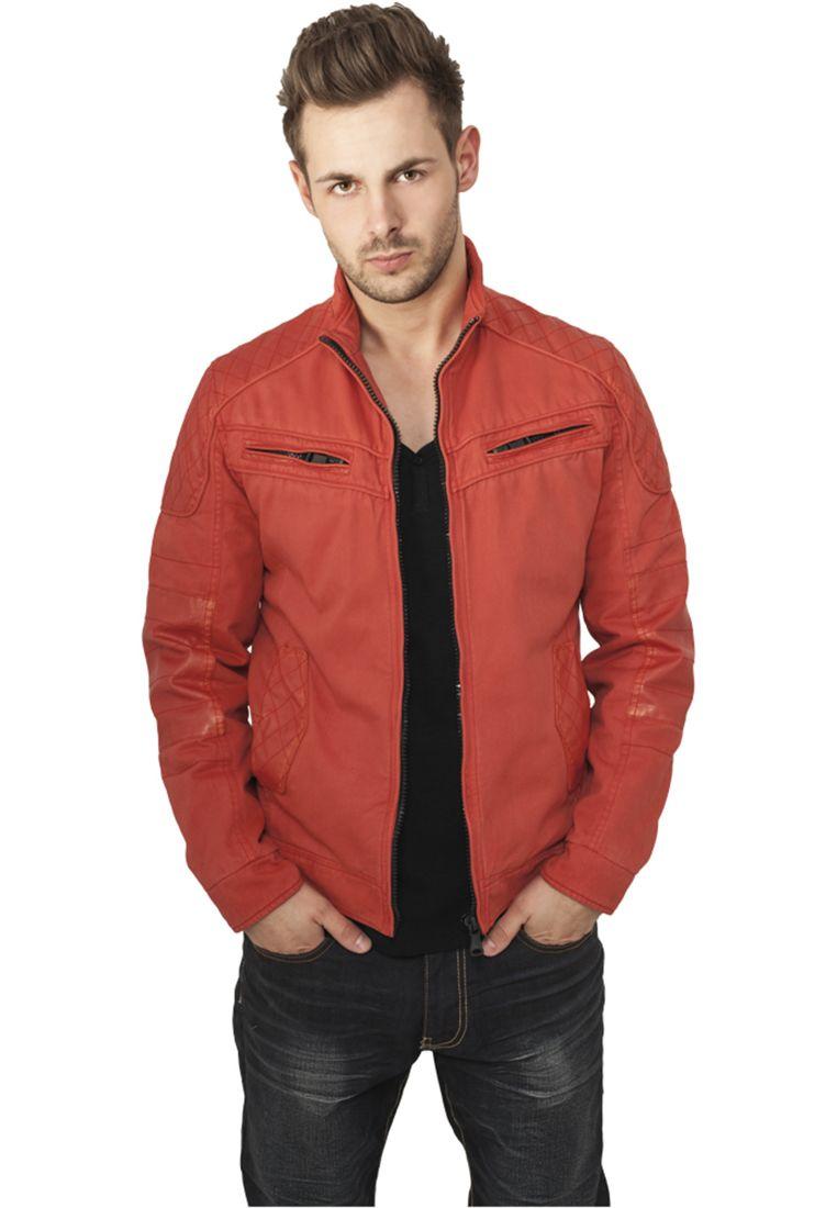 Cotton/Leathermix Racer Jacket