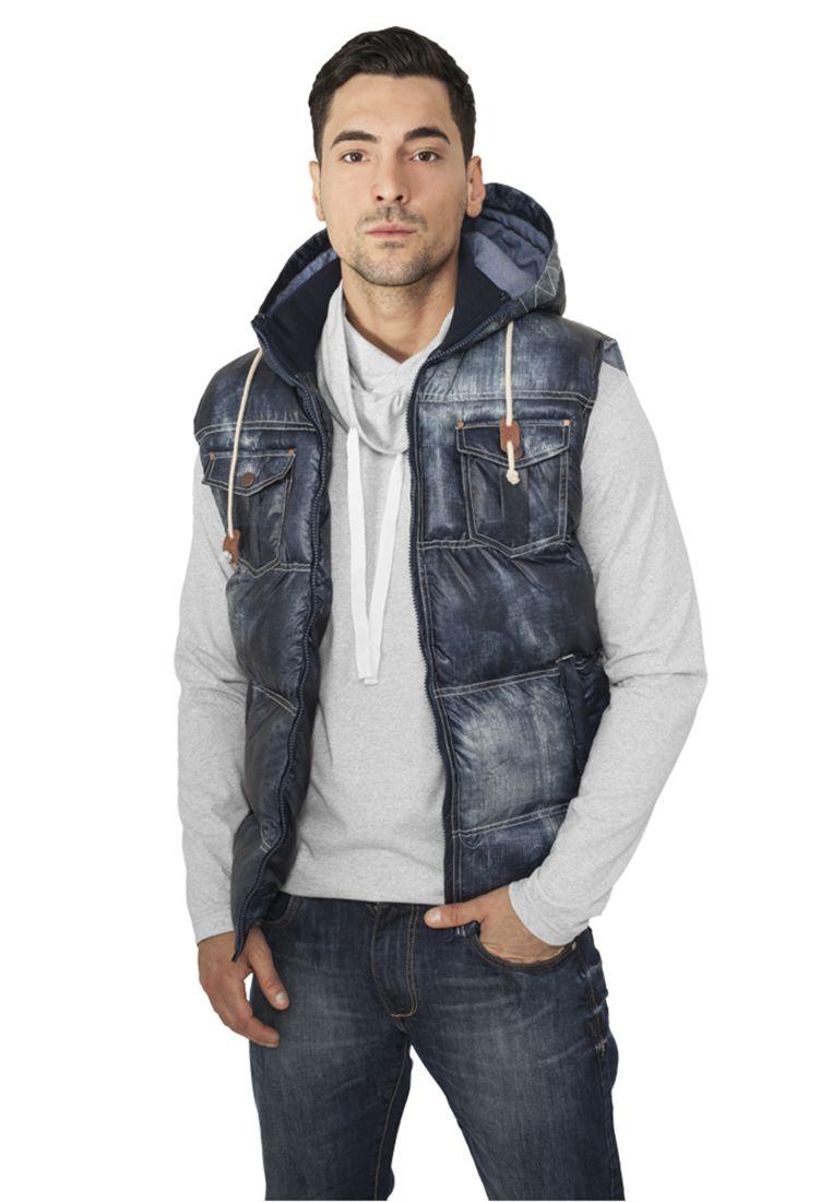 Denim Look Vest - LIIVIT - TTUTB567 - 1