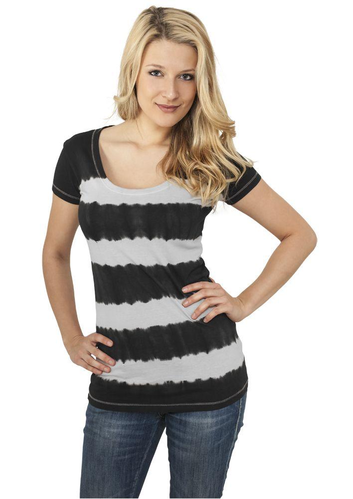 Ladies Dip Dye Stripe Tee - T-PAIDAT - TTUTB596 - 1