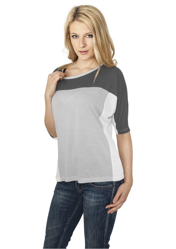 Ladies 3-tone 3/4 Sleeve Tee - T-PAIDAT - TTUTB598 - 1