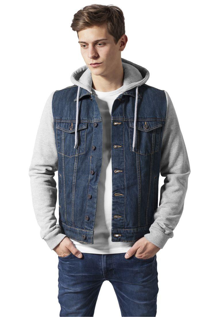 Hooded Denim Fleece Jacket - TAKIT - TTUTB669 - 1