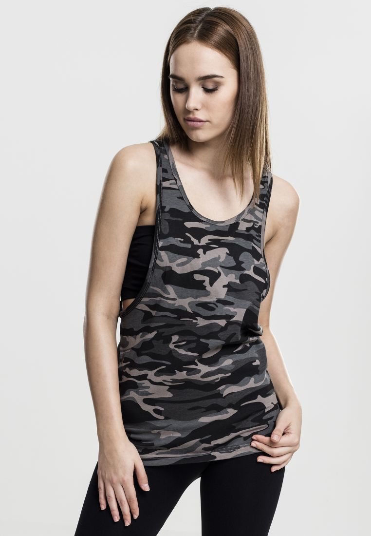 Ladies Camo Loose Tank - T-PAIDAT - TTUTB716 - 1
