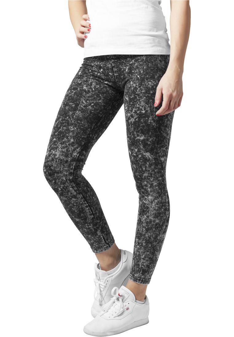 Ladies Acid Wash Leggings - LEGGINSSIT - TTUTB777 - 1