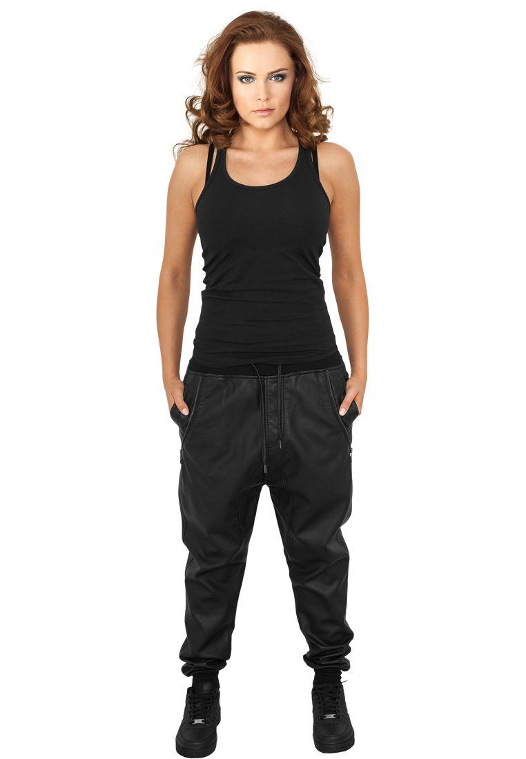 Ladies Deep Crotch Leather Imitation Pants