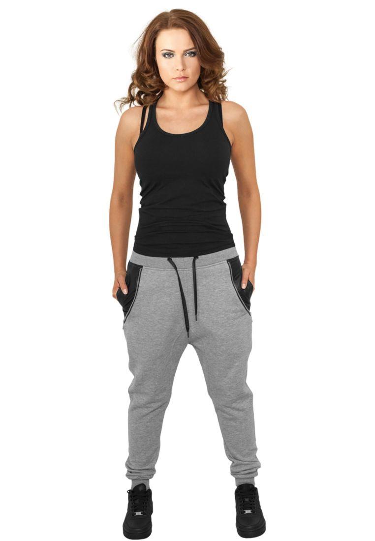 Ladies Side Zip Leather Pocket Sweatpant
