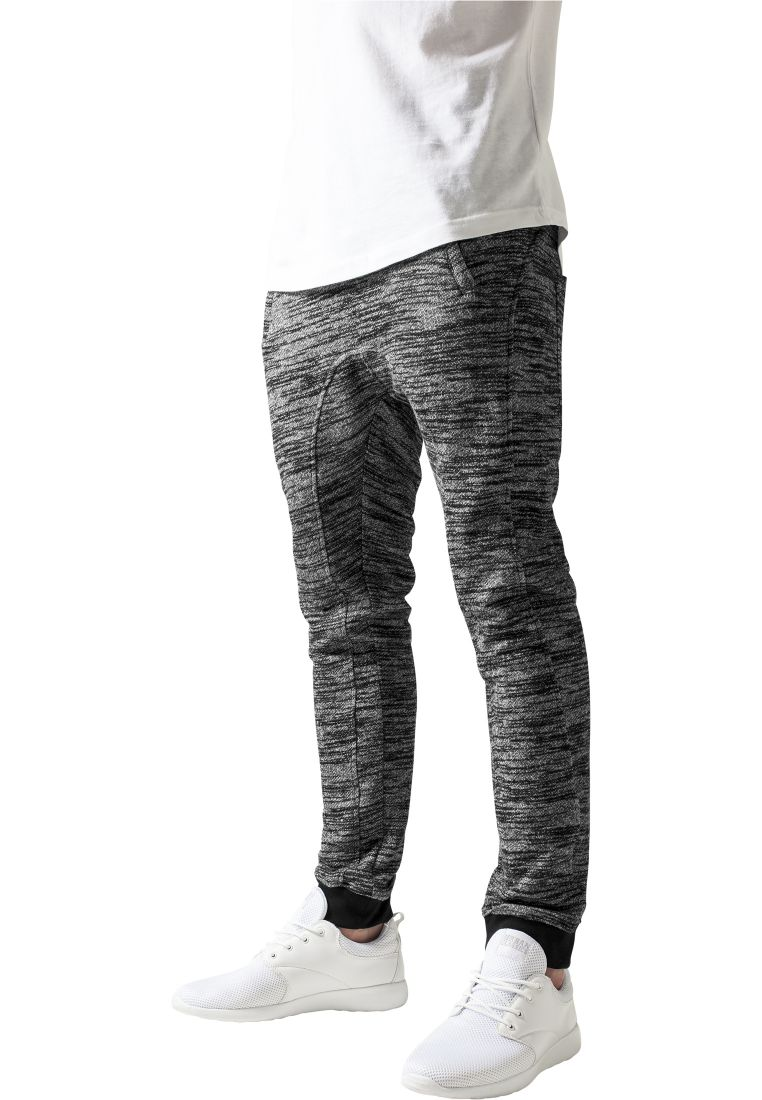 Fitted Terry Melange Sweatpants